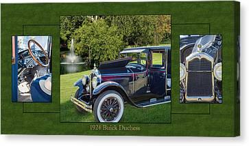 1924 Buick Duchess Antique Vintage Photograph Fine Art Prints 119    Canvas Print by M K  Miller