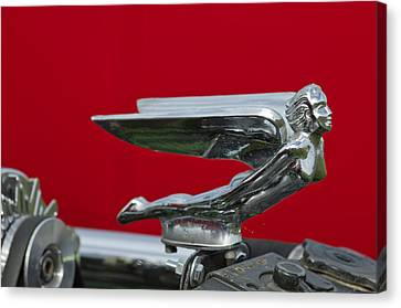1924 Ford Hood Ornament Canvas Print by Jill Reger