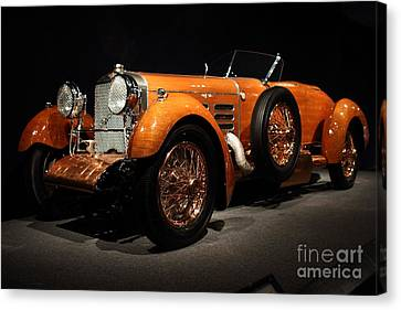 1924 Hispano Suiza Dubonnet Tulipwood . Front Angle Canvas Print by Wingsdomain Art and Photography