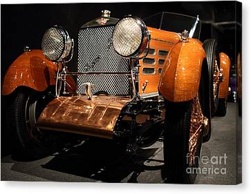 1924 Hispano Suiza Dubonnet Tulipwood . Grille Angle Canvas Print by Wingsdomain Art and Photography