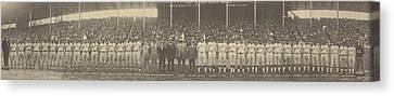 Negro Leagues Canvas Print - 1924 Negro League World Series. Players by Everett