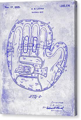 1925 Baseball Glove Patent Blueprint Canvas Print by Jon Neidert