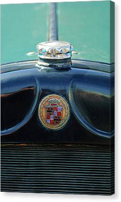 1925 Cadillac Hood Ornament And Emblem Canvas Print by Jill Reger