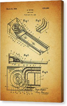 1925 Skee Ball Patent Canvas Print