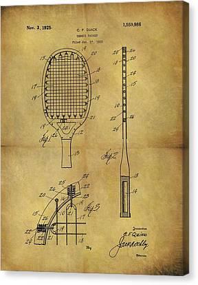 1925 Tennis Racket Patent Canvas Print