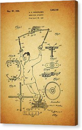 1926 Exercise Machine Patent Canvas Print by Dan Sproul