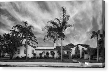 1926 Florida Venetian Style Home - 23 Canvas Print by Frank J Benz