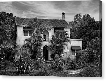 1926 Florida Venetian Style Home - 26 Canvas Print by Frank J Benz