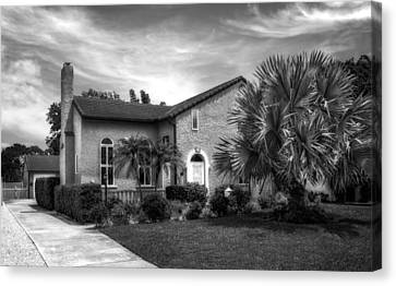 1926 Florida Venetian Style Home - 29 Canvas Print by Frank J Benz