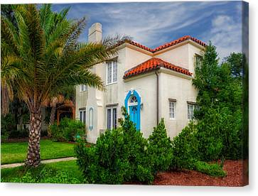 1926 Florida Venetian Style Home - 4 Canvas Print by Frank J Benz