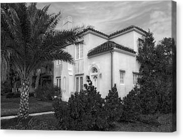 1926 Florida Venetian Style Home - 5 Canvas Print by Frank J Benz