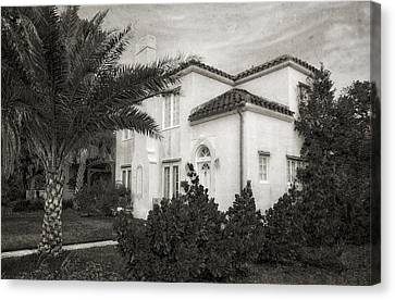 1926 Florida Venetian Style Home - 6 Canvas Print by Frank J Benz