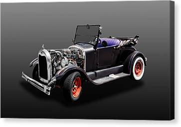1926 Ford Model T Roadster Convertible  -  1926fdmodt425 Canvas Print by Frank J Benz