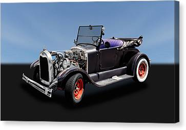 1927 Ford Model T Roadster Convertible   -   27fdmdtcv325 Canvas Print by Frank J Benz