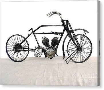 Canvas Print featuring the photograph 1926 James Model V Twin by Pg Reproductions