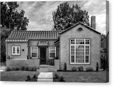 1926 Mediterranean Revival Style Home -53 Canvas Print by Frank J Benz