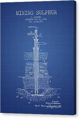 1926 Mining Sulphur Patent En37_bp Canvas Print by Aged Pixel