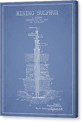 1926 Mining Sulphur Patent En37_lb Canvas Print by Aged Pixel