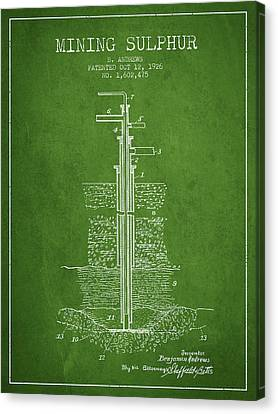 Machinery Canvas Print - 1926 Mining Sulphur Patent En37_pg by Aged Pixel
