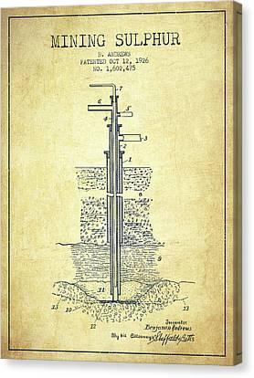 1926 Mining Sulphur Patent En37_vn Canvas Print by Aged Pixel