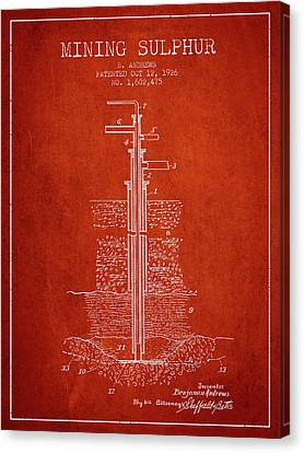 Machinery Canvas Print - 1926 Mining Sulphur Patent En37_vr by Aged Pixel