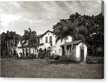 1926 Northern Italian Renaissance Style Estate - 57 Canvas Print by Frank J Benz