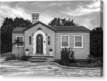 1926 Venetian Style Florida Home - 11 Canvas Print by Frank J Benz