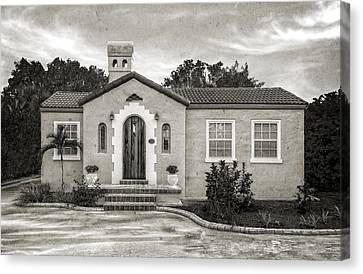 1926 Venetian Style Florida Home - 12 Canvas Print by Frank J Benz