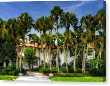 1926 Venetian Style Florida Home - 16 Canvas Print by Frank J Benz