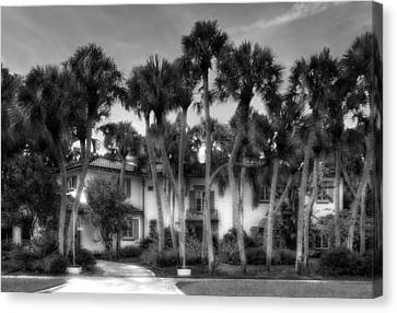 1926 Venetian Style Florida Home - 17 Canvas Print by Frank J Benz