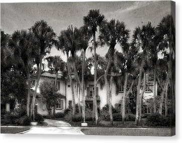 1926 Venetian Style Florida Home - 18 Canvas Print by Frank J Benz