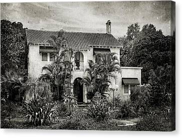 1926 Venetian Style Florida Home - 27 Canvas Print by Frank J Benz