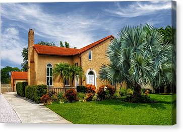 1926 Venetian Style Florida Home - 28 Canvas Print by Frank J Benz