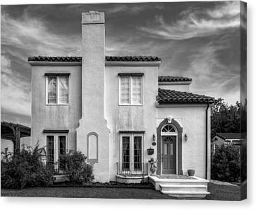 1926 Venetian Style Florida Home - 8 Canvas Print by Frank J Benz