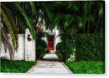 1926 Venetian Style Florida Home Entrance - 1 Canvas Print by Frank J Benz