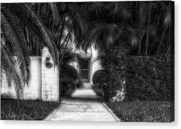 1926 Venetian Style Florida Home Entrance - 2 Canvas Print by Frank J Benz