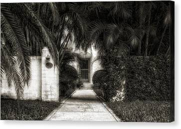 1926 Venetian Style Florida Home Entrance - 3 Canvas Print by Frank J Benz