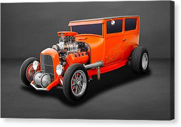 1927 Ford 2 Door Sedan Hemi Powered  -  27hemfd60 Canvas Print by Frank J Benz