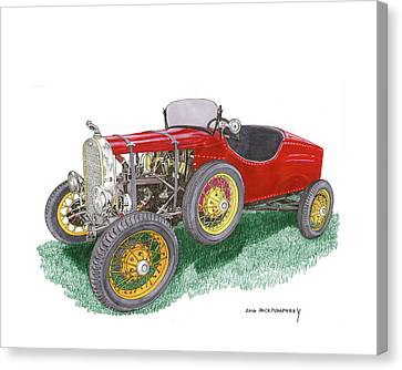 1927 Ford Model T Speedster Canvas Print by Jack Pumphrey
