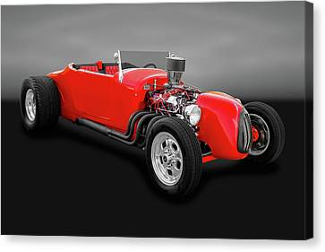 1927 Ford Roadster  -  1927fordrdstrgry0057 Canvas Print by Frank J Benz