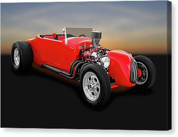 1927 Ford Roadster  -  1927fordroadster0057 Canvas Print by Frank J Benz