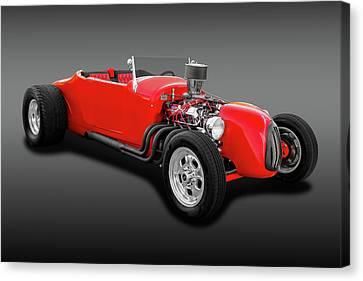 1927 Ford Roadster  -  1927frdrdsterfa0057 Canvas Print by Frank J Benz