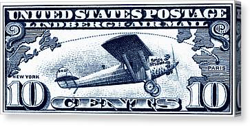 1927 Spirit Of St Louis Stamp Canvas Print by Historic Image