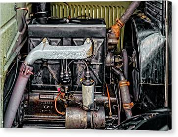 Combustion Canvas Print - 1928 Chevrolet 171 Cubic Inch 4 Cylinder Engine  -  1928cheveng9270 by Frank J Benz