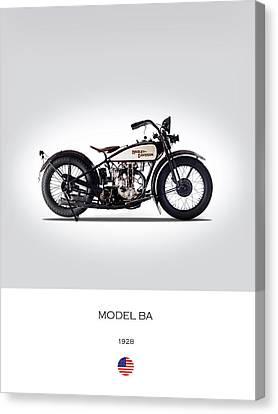 Motorcycle Canvas Print - 1928 Harley Model Ba by Mark Rogan