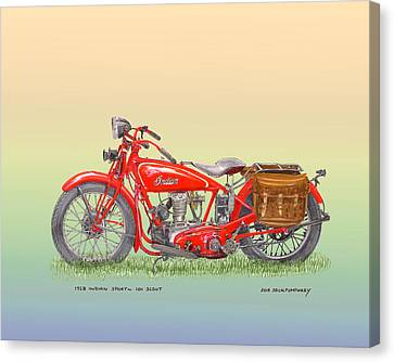 1928 Indian Scout Canvas Print by Jack Pumphrey