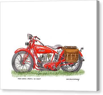 1928 Indian Sport 101 Scout Canvas Print by Jack Pumphrey