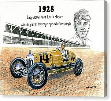 1928 Indy 500 Winner Louis Meyer Canvas Print