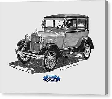 1928 Model A Ford 2 Dr Sedan Canvas Print by Jack Pumphrey