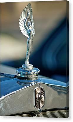 1928 Nash Coupe Hood Ornament Canvas Print